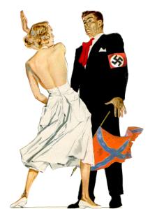 Lady slaps a Nazi!